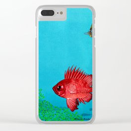 Butterfly & Bigeye fishes Clear iPhone Case