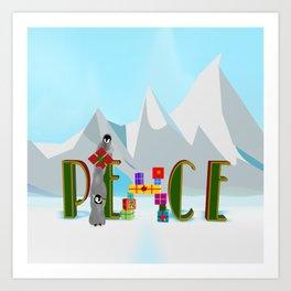 Penquin Chicks: Adding Last Piece to Peace Art Print