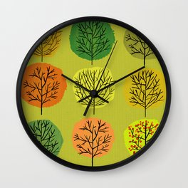 Tidy Trees All In Pretty Rows Wall Clock