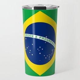 Flag of Brazil-Brazil, flag, flag of brazil, brazilian,Rio, Sao Paulo, Rio de Janiero, carnival Travel Mug