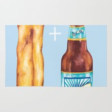 Food Pun - Sexy Chip 'N' Ale Rug