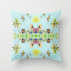An Odd Island Scene Throw Pillow