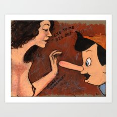 LIE TO ME BIG BOY Art Print