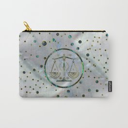 Libra Zodiac Gold Abalone on Constellation Carry-All Pouch