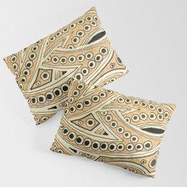 Golden Ribbons Pillow Sham