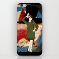 army iPhone & iPod Skins featuring Army Girl by Aleksandra Mikolajczak