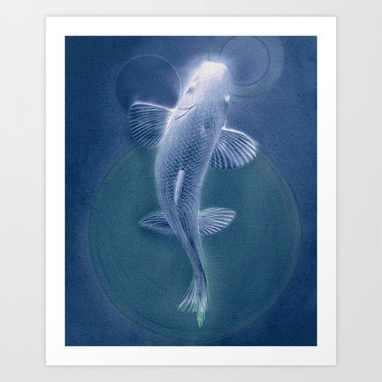 知識に歩く (Walk to Knowledge) blue Art Print