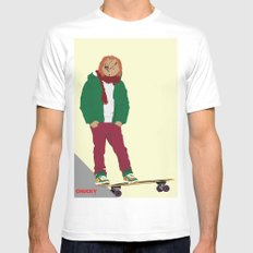 CHUCKY - Modern outfit version MEDIUM White Mens Fitted Tee