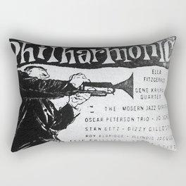 Vintage Jazz Poster, 1955 Rectangular Pillow