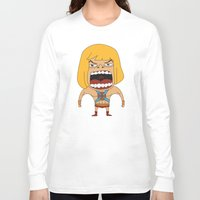 he man Long Sleeve T-shirts featuring Screaming He-Man by That Design Bastard