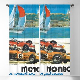 1970 Monaco Grand Prix Racing Blackout Curtain