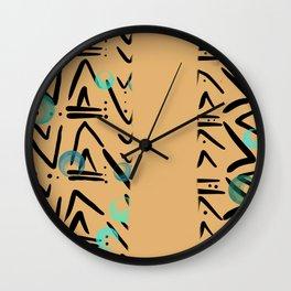 Aztec Cheetah Wall Clock