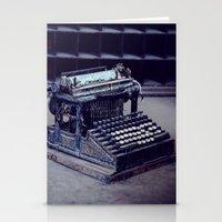 typewriter Stationery Cards featuring Typewriter by Kerri Ann Crau