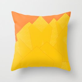 Colorful Yellow Abstract Shapes Throw Pillow