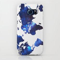 Space Milkyway World Map - Blue Slim Case Galaxy S7