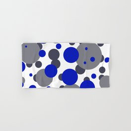 Bubbles blue grey- white design Hand & Bath Towel
