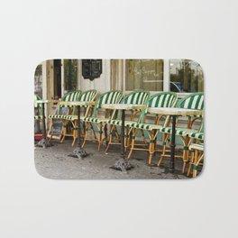 Cafe Views in Paris Bath Mat