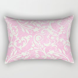 Shabby Chic pink damask Rectangular Pillow