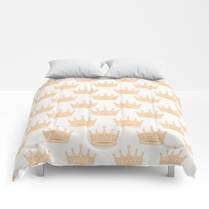 Always Wear Your Invisible Crown Quote - Orange Comforters