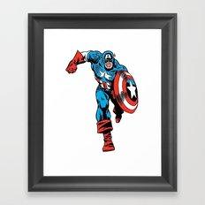 Avenger: Cap' Framed Art Print