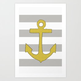 Golden Anchor Art Print
