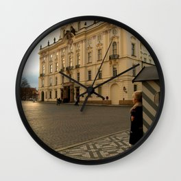 Guarding Prague Castle Wall Clock