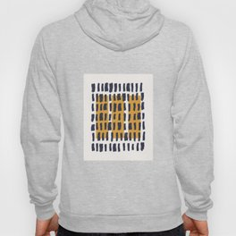 Brush Stroke with Mustard 04 - Abstract Minimal Shapes Modern Mid Century Texture Hoody