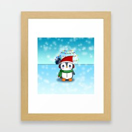 Christmas Penguin Framed Art Print