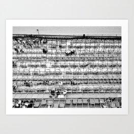 Churchill Downs B&W Art Print