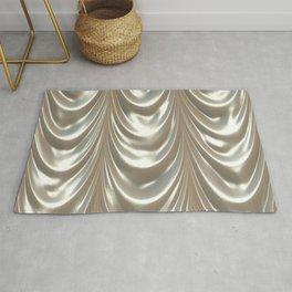 Decadent drapery,silver Rug