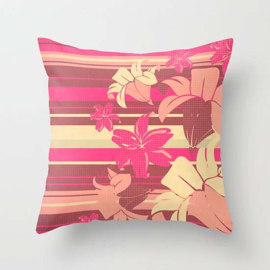 Lilium 03 Throw Pillow