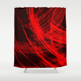 Sharp filaments of metallic purple threads with the energy of magic.  Shower Curtain