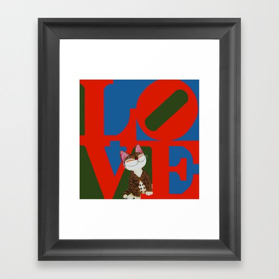 That Furry Thing Called Love Framed Art Print