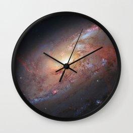 Spiral Galaxy M 106 Wall Clock