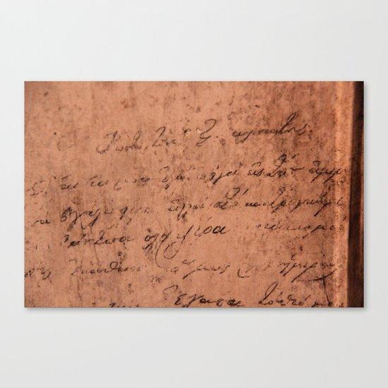 Manuscript Canvas Print