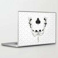 poker Laptop & iPad Skins featuring POKER CLUBS by Noly Riv Mir