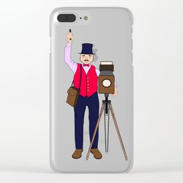The Camera-man Clear iPhone Case