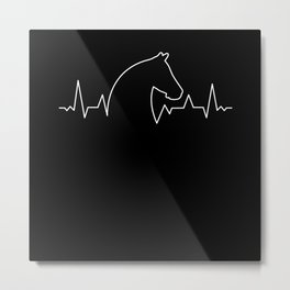 Arabian Horse Heartbeat Thoroughbred Metal Print