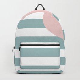 Heart & Stripes: Blue & Pink Backpack