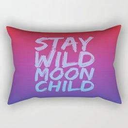 STAY WILD MOON CHILD (Crimson Purple) Rectangular Pillow