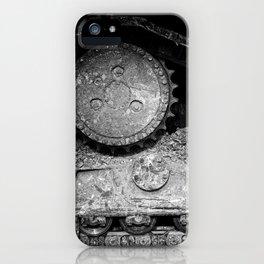 Ivan Caterpillar Track Black and White iPhone Case