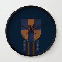 ravenclaw Wall Clocks featuring ravenclaw crest by nisimalotse