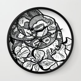 Python and iris flowers Wall Clock