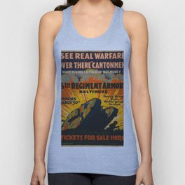 Vintage poster - Fifth Regiment Armory Unisex Tank Top