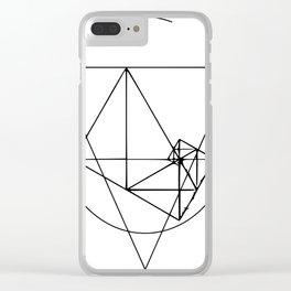 Black line minimalist var2 Clear iPhone Case