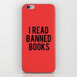 I Read Banned Books - Red B/G iPhone Skin