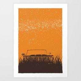 Truck - Starry Skies Series 1 Art Print