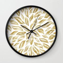 Sunburst Glam #1 #gold #decor #art #society6 Wall Clock