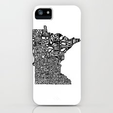 Typographic Minnesota Slim Case iPhone (5, 5s)