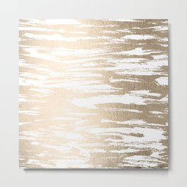 White Gold Sands Paintbrush Metal Print